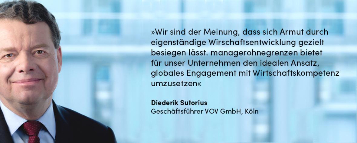 Wirtschaftskompetenz Diederik Sutorius VOV GmbH