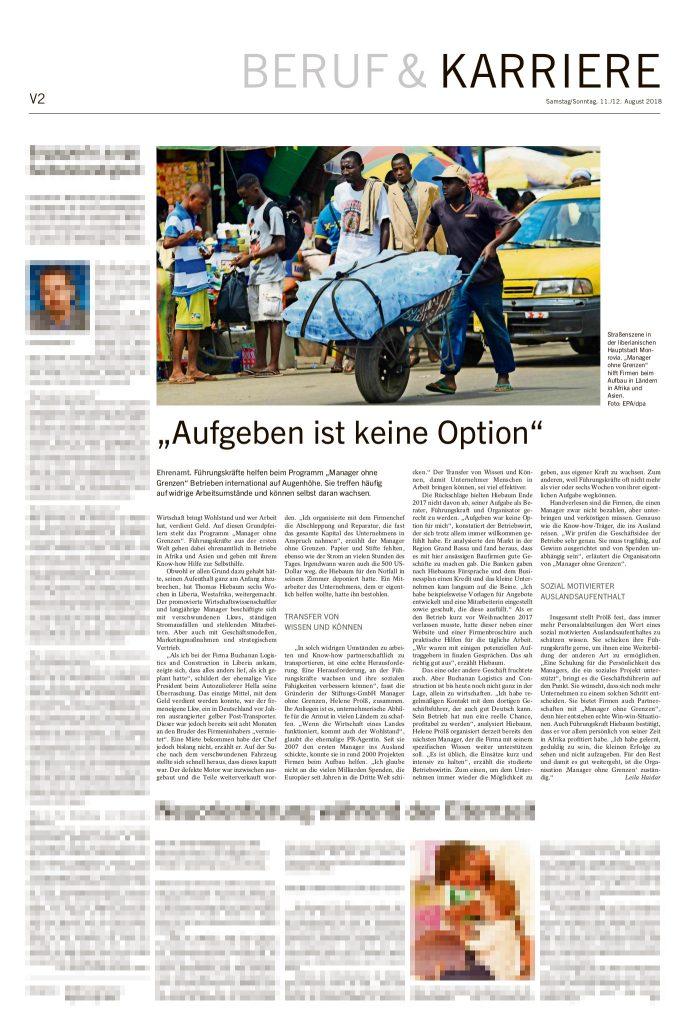 Manager ohne Grenzen @ Stuttgarter Zeitung