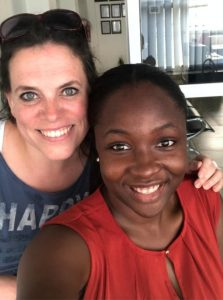 Senam and Corinna, the German-Uganda-Tandem