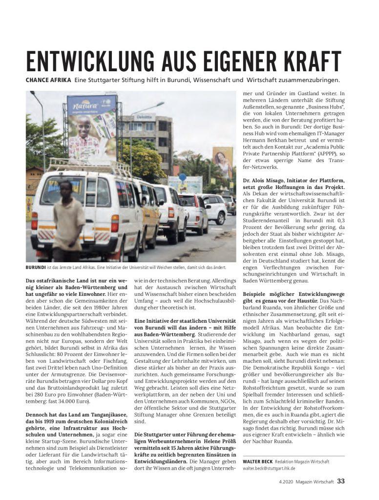 Manager ohne Grenzen IHK Magazin Wirtschaft