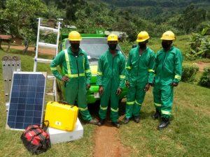 All in Trade Ugand. Die Mitarbeiter sind stolz darauf, positive Veränderungen in der Region zu bewirken.
