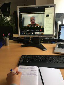 Per Video- und Telefonkonferenz finden die Termine statt