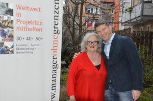Dr. Thomas Hiebaum mit Gründerin Helene Prölß
