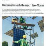 """Clipping aus der Zeitschrift """"Die Stiftung"""", Ausgabe 08-2021: Unternehmerhilfe nach ISO-Norm teaserfoto"""